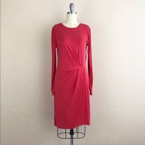 BCBGMaxAzria Roxie Front Tuck Pleated Dress